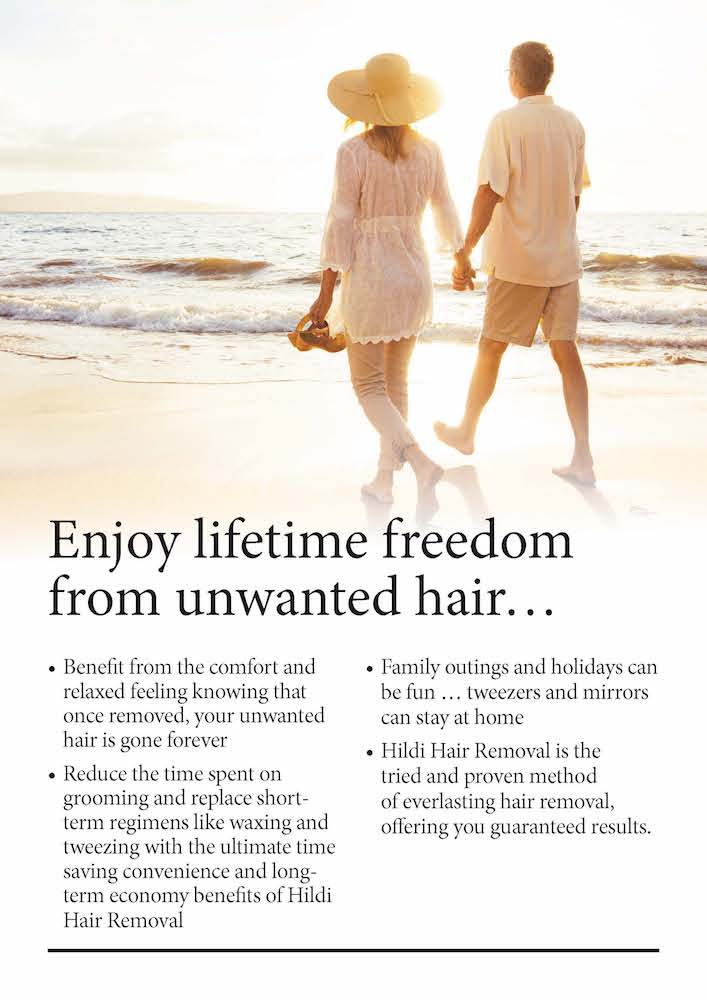 hair removal gives freedom to enjoy life with confidence