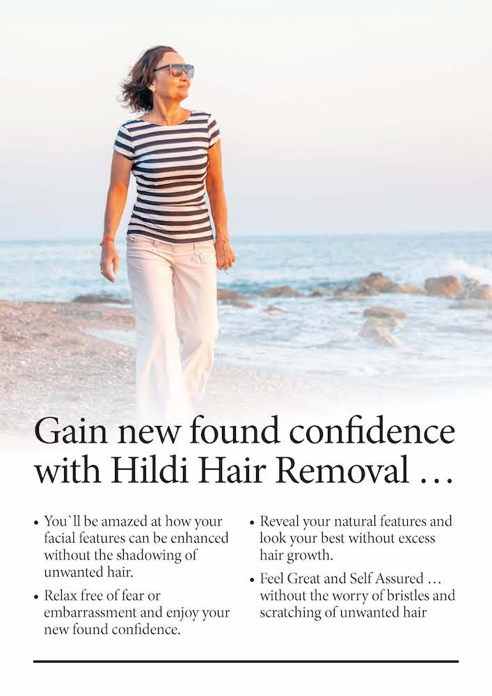 hair removal builds confidence with attractive skin